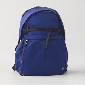 """Lululemon blue """"pack it up"""" backpack - GUC"""